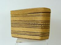 Very fine Makah  Indian rare Lidded Rectangular basket c. 1900