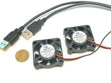 2  x  USB 5v 4010 Gdstime Computer 2pin 40x40x10mm DC Cooling Fan brushless C37