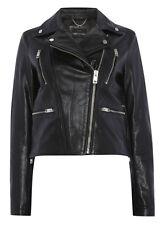 Diesel L-Sedar A Leather Jacket Black Motorcycle Biker Sz S $548 NWT Women's