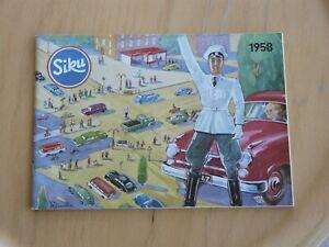 Siku Plastik V Händlerkatalog 1958, fast neuwertig, 58 Seiten