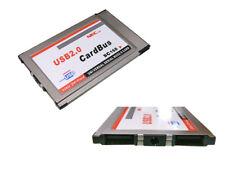 Carte PCMCIA CARDBUS affleurante - vers 2 ports USB
