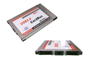 Card Pcmcia Cardbus Flush - For 2 Ports USB