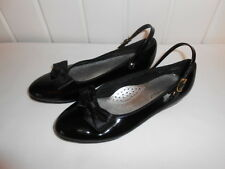 Hush Puppies Children's Girl's Ballet Flats Black Patent size 2M