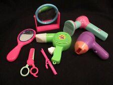 pretend play beauty parlor set mirror, blow dryer, scissors, curling iron +