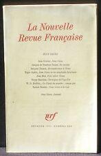 La Nouvelle revue française 218 février 1971 Jean Giono TBE