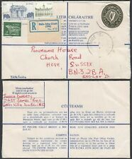 Ireland - Registered cover to Hove, Sussex-England....... (VG) MV-8559