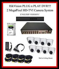 8 Ch HikVision 4TB DVR HD System w/2MP TVI Cameras / Plug-N-Play!! w/SUPPORT!!