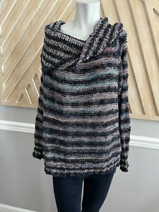 Free People Knitted Cotton Oversized Cowl Turtleneck Sweater - Size XS
