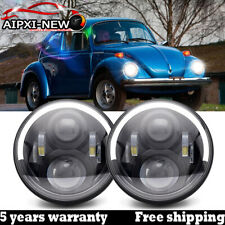 For VW Beetle Classic DOT 7 Inch LED Halo Headlights Upgrade Hi/Low Beam Round