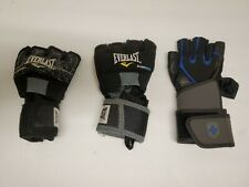 Harbinger,Everlast Gloves,Training Size M. BlackWrist Strap 125022. 3 mismatch.