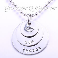 Personalised Any Family Name Or Word Necklace Birthday Valentine's Day Gift D157