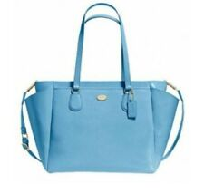 Coach Multi function Laptop Baby Diaper Bag Blue Leather F35702 NWT $495