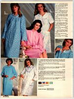 1980's Pretty Ladies In Bath Robes Lounge We Catalog AD Paper Print AD Clipings