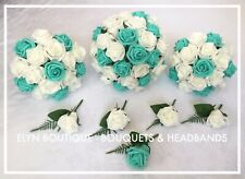 Wedding Flower Package Deal Colour of Your Choice, Buttonhole, Fern, Budget