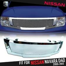 Front Chrome Net Grill Grille Fit For Nissan Frontier Navara D40 05 06 07 08