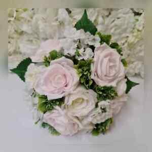 Wedding Flowers baby pink ~ Bouquet Bride~ Bridesmaid ~Flower-Girl ~ Buttonhole