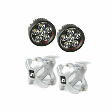 X-Clamp and Round LED Light Kit, Large, Silver, 2 Pieces