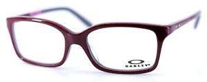 OAKLEY OX1130-0352 Dark Red Rectangular Eyeglasses 52-16-136 with White Case