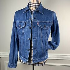 Vintage Levis Mens Denim Trucker Jacket Blue Jean 42 L Fit Medium Small USA
