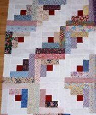Log Cabin Super Scrappy Floral Quilt KIT12 Blocks