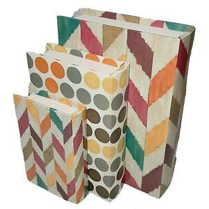 Hidden Storage Confetti Book Boxes Set of 3 Colorful Polka Dots Herringbone Imax