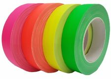 4 Farben Neon Gaffa Tape matt 25mm x 25m Gewebeband UV-Fluoreszierend Klebeband