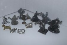 Pewter/Metal Monopoly Star Wars Simpsons Marvel Token Leia Vader Replacement Lot