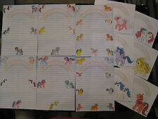 My Little Pony Vintage Stationary paper envelopes firefly moondancer posey lofty
