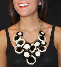 Kate Spade 'Octagonal' Statement Bib Necklace ON TREND BLACK & WHITE GRAPHIC