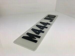 Single Road Legal Number Plate 3D 4D Black Laser Cut Car Registration