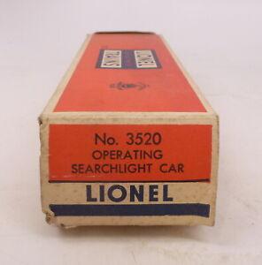 BX Lionel Postwar 3520 Operating Searchlight Car #2 - Empty Box