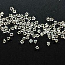 100 x PRECIOSA Lochrosen/ Sew-On Embroidery Stones/Jewels. 4mm Crystal.