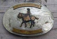 4H Horse Show Award IRVINE JACHENS Western Cowboy 1970s Vintage Belt Buckle