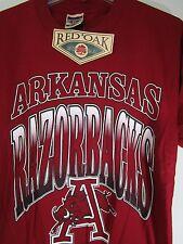 Vintage Arkansas Razorbacks T-shirt size Medium Red Oak Sportswear 100% Cotton