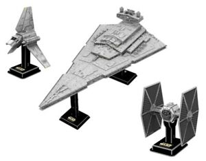 Star Wars Imperial Star Destroyer 3D Puzzle Set Imperial Shuttle & 2xTie Fighter