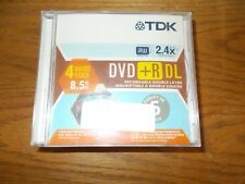 TDK DVD+R DL 5 PK RECORDABLE DOUBLE LAYER BRAND NEW SEALED