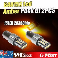 Amber Signal Light BAU15S Canbus 2835 15LED Car Turn Tail Indicator Lights x 2