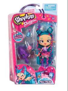 **New in Box Shopkins Shoppies Polli Polish Doll Hard top Find**