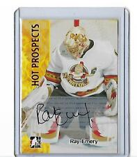 05-06 ITG Heroes and Prospects Autographs Series II #ARE2 Ray Emery SP Mannheim
