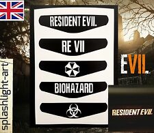 PS4 Controller 5x Resident Evil 7 Light Bar Vinyl Sticker Biohazard PlayStation