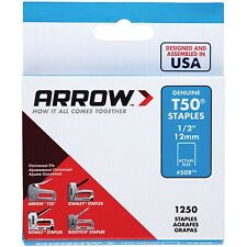 Arrow 1/2-Inch T50 Staples, 1250 Count - PK
