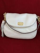 New Michael Kors Bedford Tassel Convertible Shoulder Bag Handbag Purse White