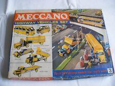 Meccano 1967 Juego de vehículos de carretera 3 Conjunto De Construcción En Caja Usado Retro Hobby Divertido