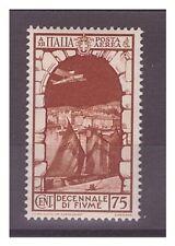 REGNO 1934  - POSTA AEREA  ANNESSIONE  FIUME   CENT. 75   -  NUOVO **