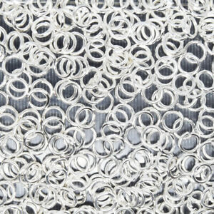 Bright Silver Plated Iron Jump Rings Various Sizes And Gauges Closed Unsoldered