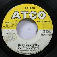 Hear! Northern Soul 45 The Jones Boy - Impressions / I Remember Barbara On Atco