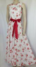 Laura Ashley Sommerkleid 40 Rosen Blumen vintage Hochzeit weiß rosa rot grün