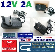 UK Plug DC 12V 2A AC Power Supply Adapter Converter Wall Charger 100-240V