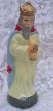 VINTAGE JAPAN PAPER MACHE WISE MAN KING CHRISTMAS NATIVITY FIGURINE ORNAMENT