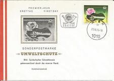 Austria 1974 umweltschutz eiserne MANO FERRO ROSE ambiente IED FDC COVER